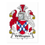 Escudo de la familia de Willington Postal