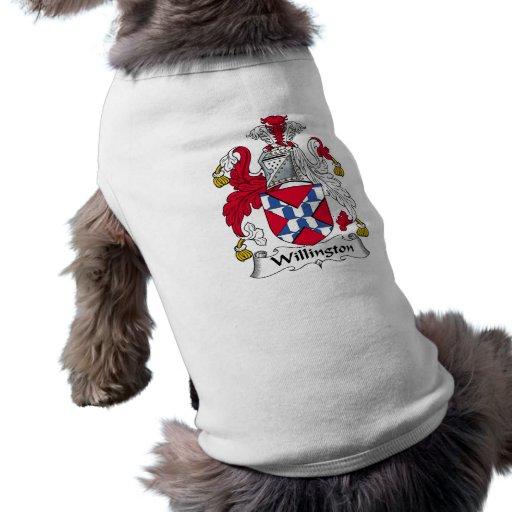 Escudo de la familia de Willington Camisa De Mascota