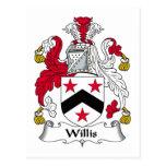 Escudo de la familia de Willis Postal