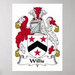 Escudo de la familia de Willis Posters