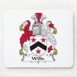 Escudo de la familia de Willis Tapete De Raton