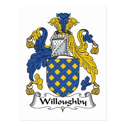 Escudo de la familia de Willoughby Postal