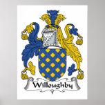 Escudo de la familia de Willoughby Poster