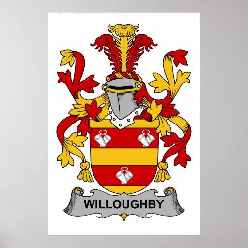Escudo de la familia de Willoughby Póster