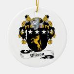 Escudo de la familia de Wilson Ornamentos De Navidad