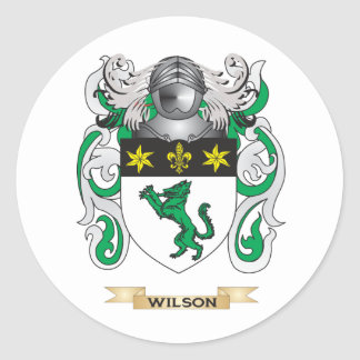 Escudo de la familia de Wilson (escudo de armas) Pegatina Redonda