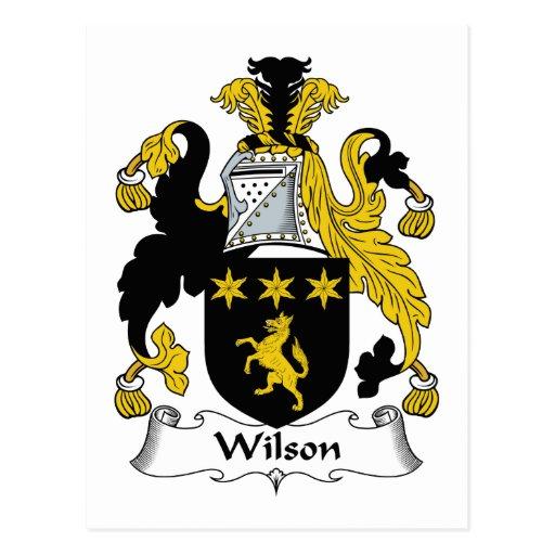 Escudo de la familia de Wilson Tarjeta Postal