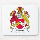 Escudo de la familia de Wilton Alfombrillas De Raton