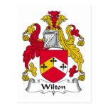 Escudo de la familia de Wilton Tarjeta Postal