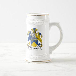 Escudo de la familia de Wiltshire Jarra De Cerveza