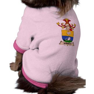 Escudo de la familia de Wimmer Ropa De Mascota