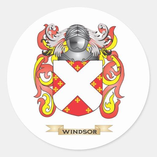 Escudo de la familia de Windsor (escudo de armas) Pegatinas Redondas