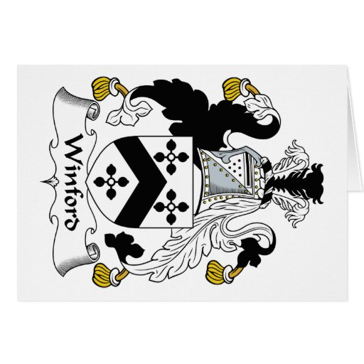 Escudo de la familia de Winford Felicitación