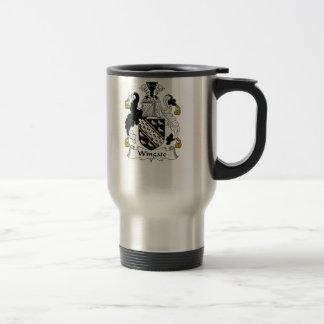 Escudo de la familia de Wingate Tazas De Café