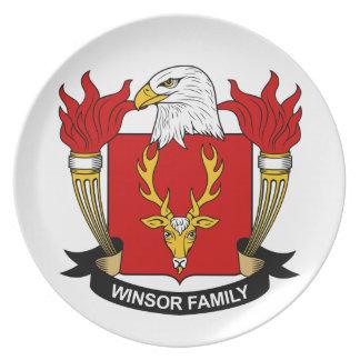 Escudo de la familia de Winsor Plato