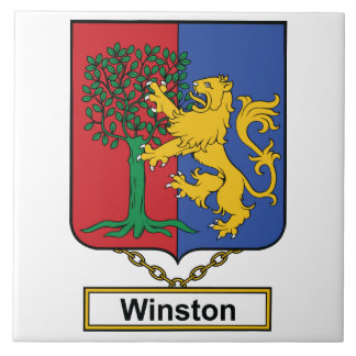 Escudo de la familia de Winston Teja Ceramica
