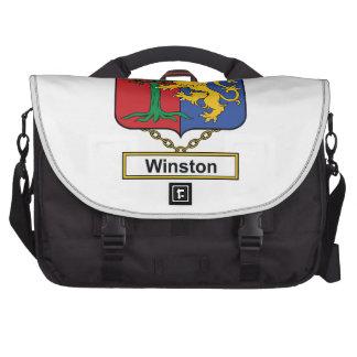 Escudo de la familia de Winston Bolsa Para Ordenador