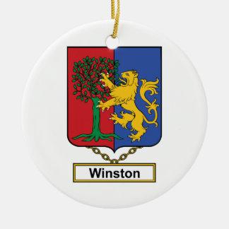 Escudo de la familia de Winston Ornamento Para Reyes Magos