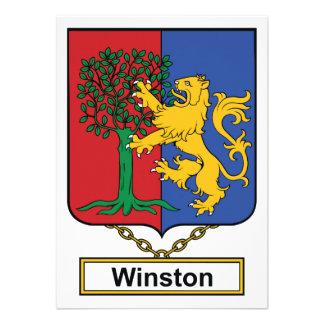Escudo de la familia de Winston Anuncio Personalizado