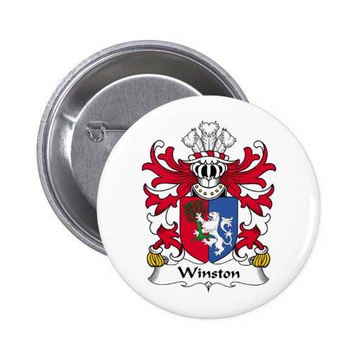 Escudo de la familia de Winston Pin Redondo De 2 Pulgadas