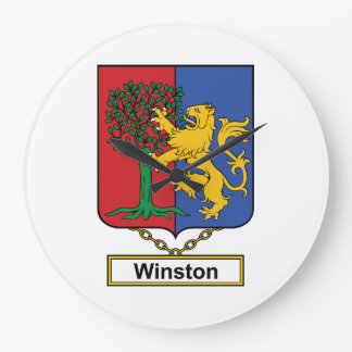 Escudo de la familia de Winston Relojes De Pared