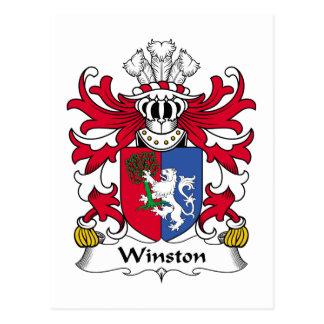 Escudo de la familia de Winston Tarjetas Postales