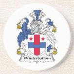 Escudo de la familia de Winterbottom Posavasos Personalizados