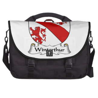 Escudo de la familia de Winterthur Bolsas Para Portatil