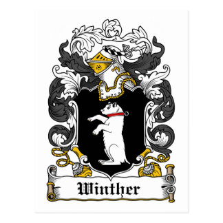 Escudo de la familia de Winther Tarjeta Postal
