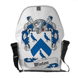 Escudo de la familia de Winton Bolsas De Mensajería