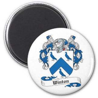 Escudo de la familia de Winton Imán Redondo 5 Cm