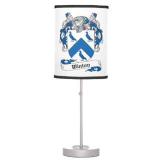 Escudo de la familia de Winton Lámpara De Mesilla De Noche