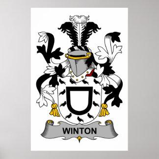Escudo de la familia de Winton Poster