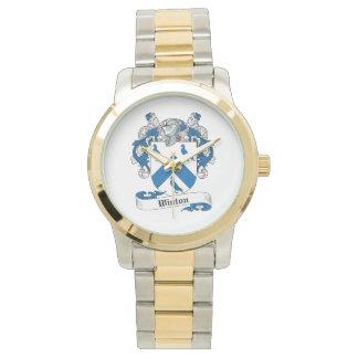 Escudo de la familia de Winton Reloj