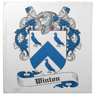 Escudo de la familia de Winton Servilleta