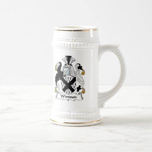 Escudo de la familia de Wintoun Tazas De Café