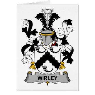 Escudo de la familia de Wirley Tarjeta De Felicitación