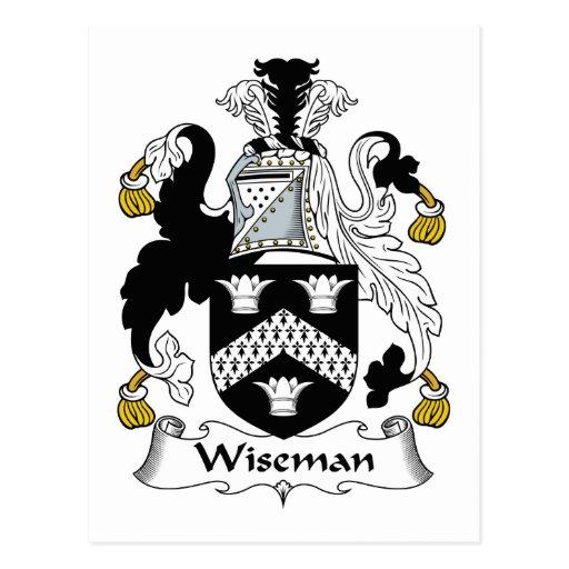 Escudo de la familia de Wiseman Postales