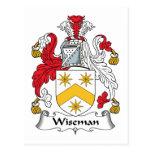 Escudo de la familia de Wiseman Tarjetas Postales
