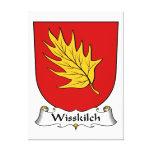 Escudo de la familia de Wisskilch Impresion De Lienzo