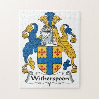 Escudo de la familia de Witherspoon Rompecabeza