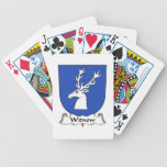 Escudo de la familia de Witnow Baraja Cartas De Poker