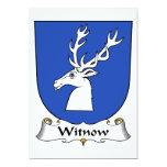 Escudo de la familia de Witnow Invitación 12,7 X 17,8 Cm