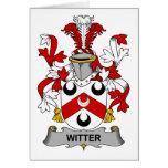 Escudo de la familia de Witter Felicitación