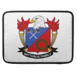 Escudo de la familia de Witthaus Fundas Para Macbooks