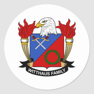 Escudo de la familia de Witthaus Etiquetas Redondas