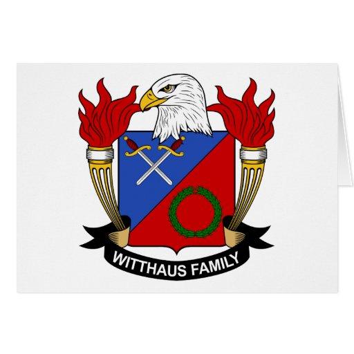Escudo de la familia de Witthaus Tarjetas