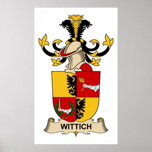 Escudo de la familia de Wittich Impresiones