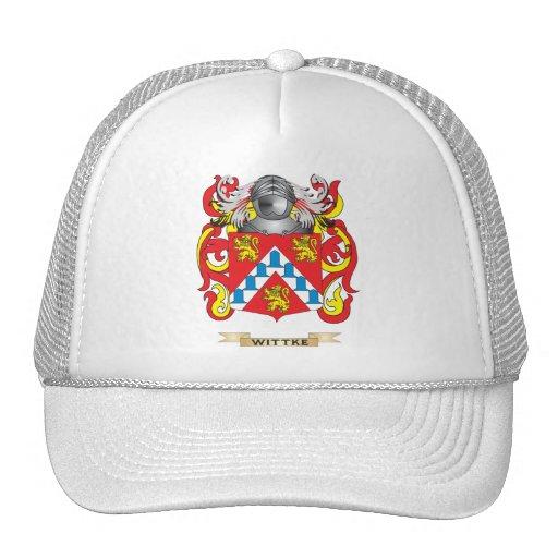 Escudo de la familia de Wittke (escudo de armas) Gorro De Camionero