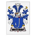 Escudo de la familia de Wittrop Felicitación